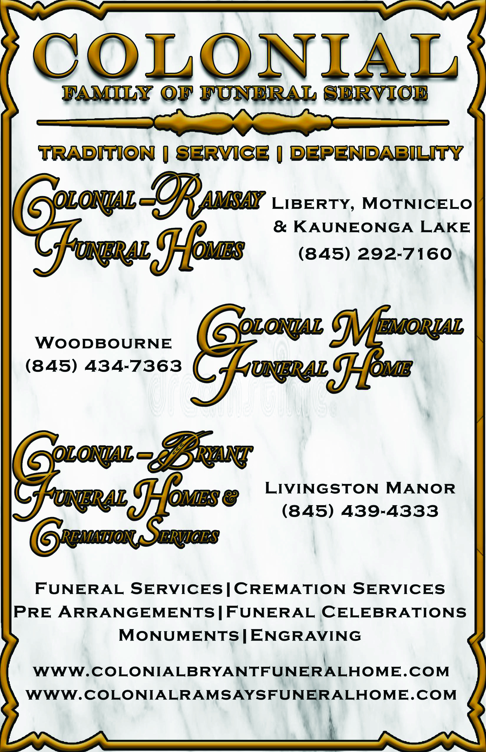 Colonial Family of Funeral Services